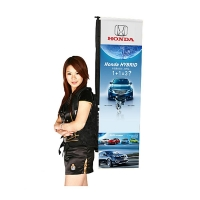 Outside Advertising System Square Backpack Flying Banner