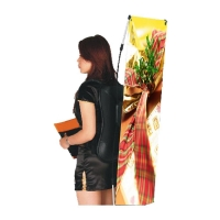 Outside Advertising System X Backpack Flying Banner