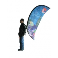 Outside Advertising System Arc Backpack Flying Banner