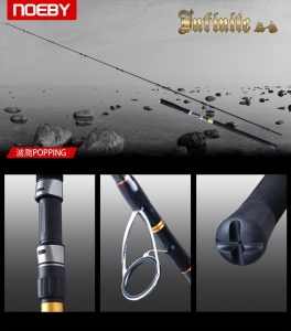 China Infinite Popping Fishing Rod FUJI A Guide on sale