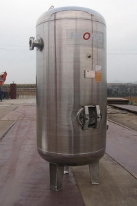 China Stainless steel pressure vessel air tank receiver on sale