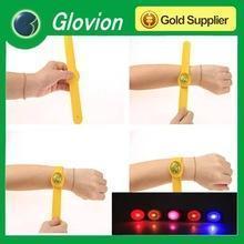 China Hot sale led flashing slap wrist silicone slap bracelet led armband for party festival bar on sale