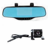 China 4.3 inch display video recorder rearview mirror tachograph on sale