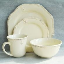 China wholesale china 16pcs stoneware ceramic dinnerware set on sale