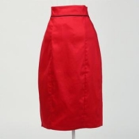 designer fashion clothing manufacturer sexy women skirt red from China