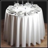 Custom made 100% cotton plain style white round table cloth