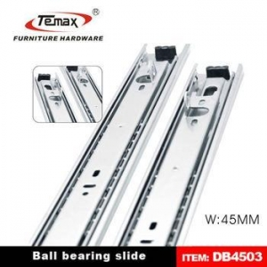 China 02.Drawer slide DB450 45mm 1.0*1.0*1.0 3-fold Steel Kitchen Cabinet Drawer Runner on sale