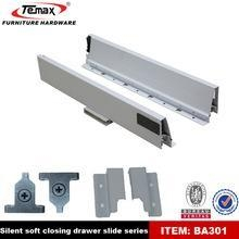 China 02.Drawer slide full extension soft close tandem box drawer runner on sale