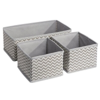 China Chevron Fabric Storage, Dresser Drawer Organizer -3 Piece Set on sale