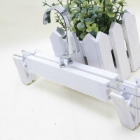 White Plastic Pants and Skirt Hanger With Clips