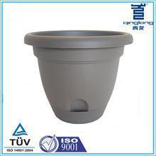 China Round 8 round grey fiber clay Self Watering Planter on sale
