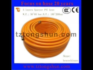 China 5 layers spray hose with 2 braided reinforcement on sale