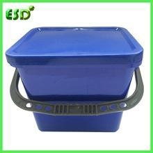 China ESD Heavy Duty Large Plastic Water Bucket With Lid on sale