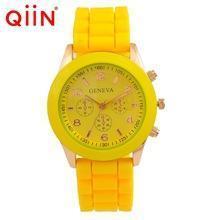 China Silicone Geneva Watches QD0143 Wholesale Cheap romanson geneva quartz stainless steel watch on sale
