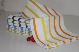 China Shandong Factory Waffle Weave Tea Towel Fabric on sale