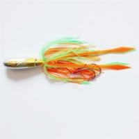 China 45g Skirt Vertical Artificial lures Micro Metal Rubber Jigs! on sale