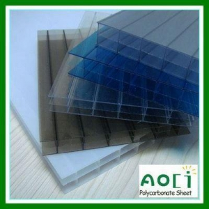 China 16MM 3 Wall Poly carbonate Hollow Sheet on sale