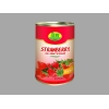 China Fresh foods Canned Strawberries in syrup for sale