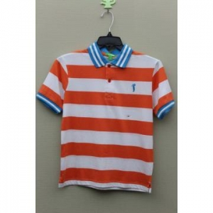 China Boy's 100% Cotton Yarn Dyed Polo with Golf Logo Embroidery on sale