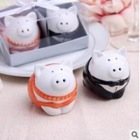 China Wedding Supplies Piggy salt & pepper shakers on sale