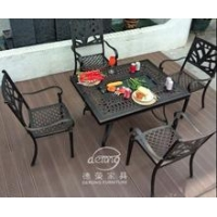 China NEW garden electric BBQ set, Cast aluminum outdoor furniture set on sale