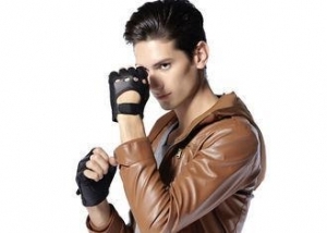 China OEM Customized Classic Men Half Finger Deerskin Leather Gloves Outdoor on sale