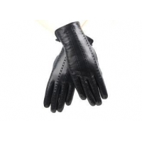 China Real Sheep Leather Women's Gloves , Short Touch Screen Leather Black Gloves on sale