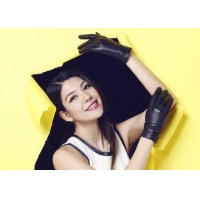 China Pleat Veins Cuff Women's Leather Gloves Wholesale / Warm Winter Leather Gloves for Ladies on sale