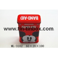 China Rectanglar tin box Band-aid tin ML-3102 on sale