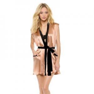 China Bathrobes HOME Satin Sleeveless Robe on sale
