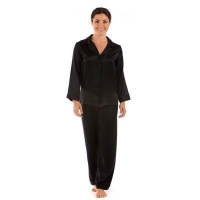 China Long Pajama Sets HOME Lounge Wear Ladies Sex Silk Pajamas on sale