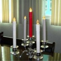 11inch Long LED FlamelessTaper Candles for dinner / LED Battery operated long candle stick