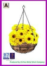 China Hanging flower basket Hanging wire basket and Coir fiber liners Hanging planters baskets BH090015 on sale