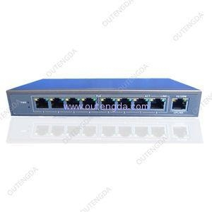 China 8 port POE switch 24V with 1 uplink port, mini network hub ethernet switch for ip camera on sale