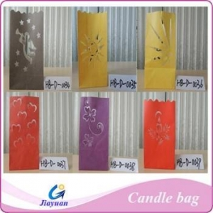 China Luminaire Colored Candle Bags on sale
