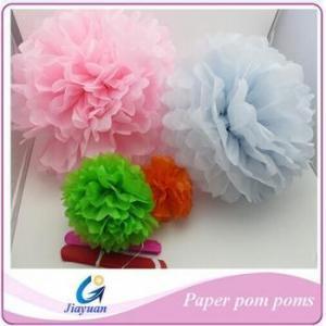 China Wedding decoration paper pom poms on sale