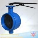 China ButterflyValves Ductile Iron Grooved Butterfly Valve, Lever Op on sale