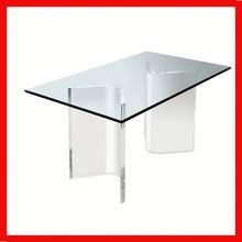 China high quality acrylic custom landing leg for comptempary dining/coffee/bench table on sale