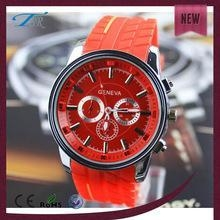 China China manufacturer directly sale geneva watches man,sport silicone men watch with japan movement on sale