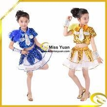 China Boy Girl Feather Sequins Kid Jazz Dance Wear/ Girl Jazz Performance Wear/Child Jazz Wear on sale