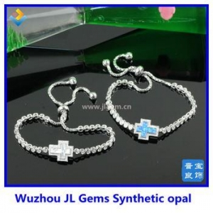 China Factory fashion opal bracelet synthetic opal bracelets opal cross bracelet on sale