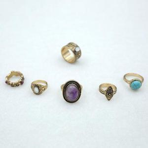 China Festival semi precious stone ring pack on sale