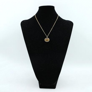 China Oval tiger eye pendant necklace on sale