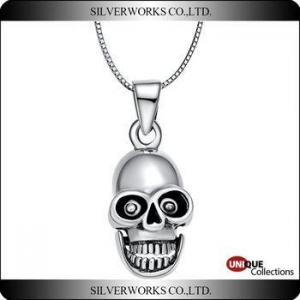 China Skull Servant silver pendant 925 sterling silver Dance charms Modern fashionable ornaments on sale