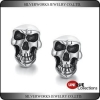 China Men's Fashion Skeleton Skull Punk Gothic Unique Silver Studs Earrings for sale