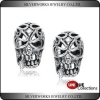 China Unique Cool Mens 925 Sterling Silver Fashion Jewelry Piercing Skull Stud Earring for sale