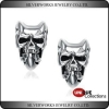 China Sterling Silver 925 Halloween Best Price Jewelry Gift Silver Skull Stud Earrings for sale