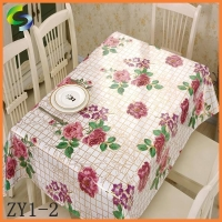 Partial Transfer Printing Tablecloth New Pattern PVC Table Cloths for Wedding