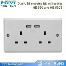 China USB wall socket China wholesales, UK electric wall socket UK plug socket 13A 250V on sale