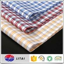 China Ready goods, 50% bamboo 50% polyester yarn dyed shirting fabric on sale